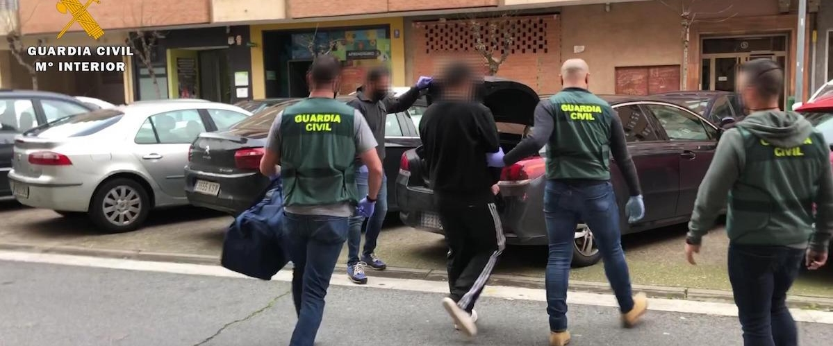 Guardia Civil, detenido, cocaína